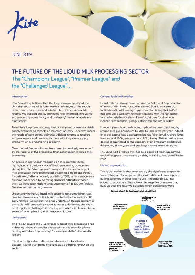 The Future of the Liquid Milk Processing Sector - Kite